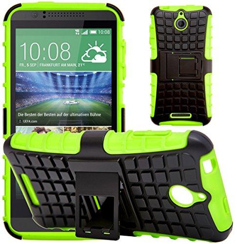 G-Shield Hülle für HTC Desire 510 Stoßfest Schutzhülle mit Ständer - Grün
