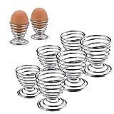 Silber Edelstahl Spring Spirale Ständer für EI Küche Frühstück gekochtes Ei Draht Tablett Aufbewahrung 6 PCS