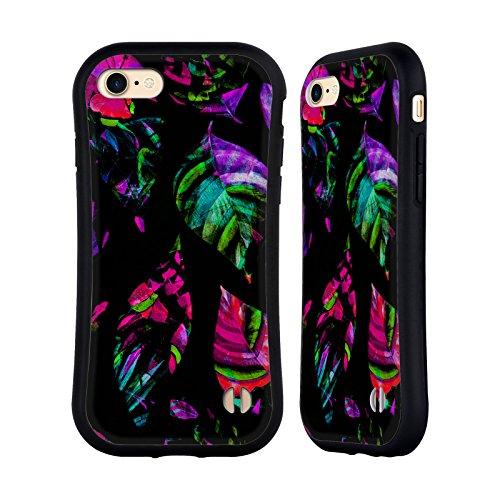 Ufficiale Haroulita Tropicale Neon Foglie Case Ibrida per Apple iPhone 6 Plus / 6s Plus Luce Retro