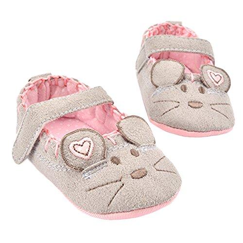 WAYLONGPLUS Baby-Jungen-Mädchen Prewalker Sommer Cartoon Babyschuhe Grau
