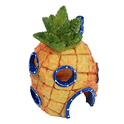 Oyedens Aquarium Ornaments Pineapple House for Fish Tank (Pineapple) 6