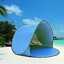 Grande al aire libre automático Pop Up Instant portátil Cabana familia tienda de campaña para la playa y sol refugio anti UV Cabana (2 - 3 persona) UPF 50 +