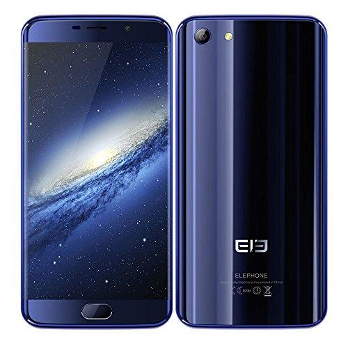 "Elephone S7 Smartphone 4G LTE X20 2.0GHz Deca Core 4GB + 64GB Android 6.0 Pantalla 5,5"" Resolución 1920 x 1080 Pixel, Cámara 13MP + 5MP, Dual SIM Soporta Tarjeta TF, Huella Digital Inteligente, Azul"