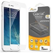 iPhone 6S, iPhone 6S Protector Cristal Templado Edge To Edge 4.7, libre de rooCASE 3d Touch/antihuellas/Ballistic/Bubble para Apple iPhone 6/6S (2015),, White Border, iPhone 6 (4.7)