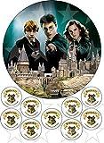 Harry-Potter Hogwarts Kuchendekoration Essbar, rund, bedruckt, 18 cm