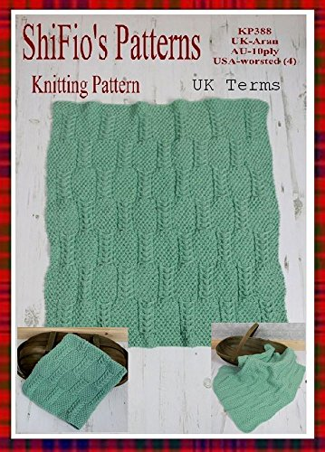 Knitting Pattern - KP388 - baby afghan blanket - USA Terminology (English Edition) (Stricken Baby-afghanen)
