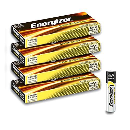 Avantage Pack de 40Piles Energizer Industrial AAA/LR03/en92/Micro Piles Alkaline