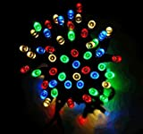 Solalite - 100 LED Multi Coloured String Solar Powered Fairy Lights Garden Party Christmas Outdoor