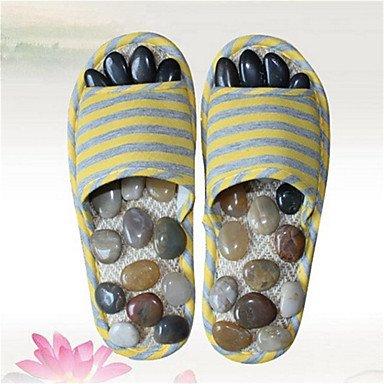 zhENfu donna pantofole & amp; flip-flops estate biancheria Slingback Casual tacco piatto giallo arrossendo rosa Yellow