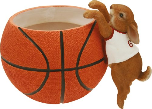 Cache-pot sportif lapin Basket cm.15 h.