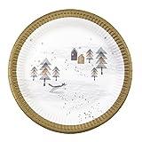 Talking Tables NORDIC-PLATE Nordic Noël Lot de 8 Assiettes Plastique Multicolore 2 x 0.02 x 22.5 cm