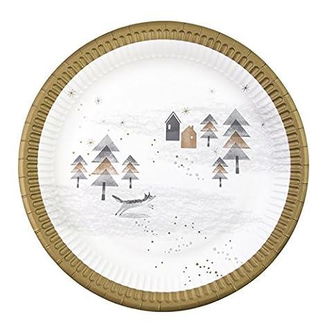 Talking Tables NORDIC-PLATE Nordisches weihnachten 9 Zoll, Pappe, mehrfarben, 4.19 x 22.5 x 4.19 cm