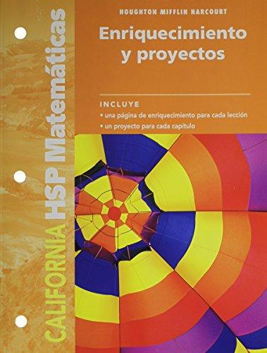 SPA-HARCOURT SCHOOL PUBLS SPAN (Harcourt School Publishers Spanish Math California) por HSP