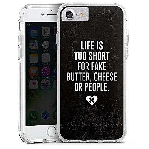 Apple iPhone 6s Plus Bumper Hülle Bumper Case Glitzer Hülle Statement Spruch Saying Bumper Case transparent