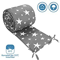 Luchild Baby Cot Bumper Padded Wrap Around Protection 100% Cotton for Baby