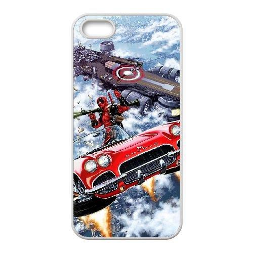 Deadpool coque iPhone 4 4S Housse Blanc téléphone portable couverture de cas coque EBDXJKNBO12235