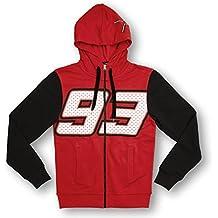 Marc Marquez 93 Moto GP Zip sudadera con capucha polar rojo oficial Nuevo