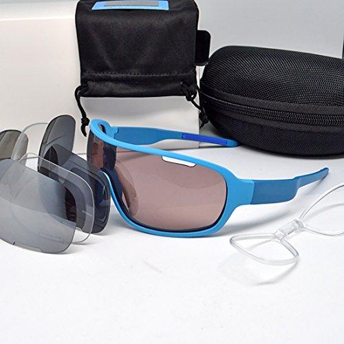Bre Sportbrillen Sonnenbrille Fahrradbrille Polarisierte Gläser Tr90 Rahmen Anti-UV400 4 * Gläser Linse Yacht Strand Urlaub