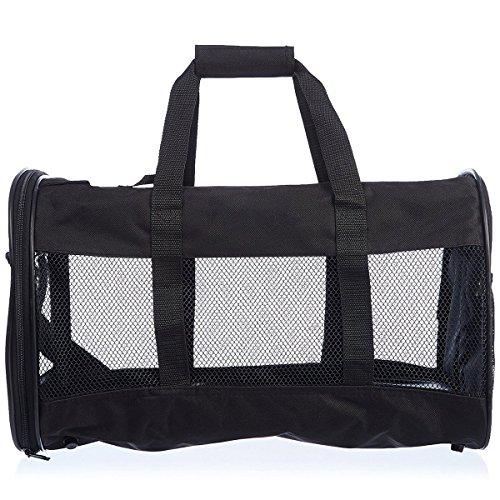 Ondoing Hunde Reisetasche Transportbox Klappbar Größe:51*30*30cm(L*W*H) Für Haustiere bis zu ca.13 kg