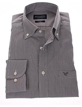 178644 - Bots & Bots - Camicia Uomo - Cotone Fil à Fil - Button Down - Normal Fit
