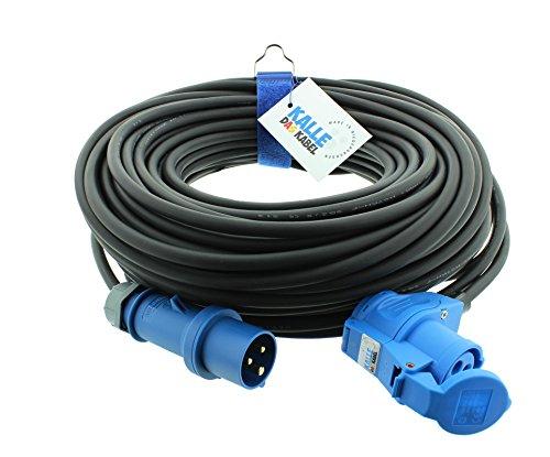 Preisvergleich Produktbild CEE-Verlängerungskabel mit Winkelkupplung H07RN-F 3G 2,5 mm² 25 m von KALLE DAS KABEL