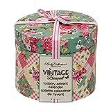 Geschenkbox Romantischer Vintage Bouquet Adventskalender mit Roten Stoffsäckchen Zum Aufhängen für Frauen mit Pflegeprodukten