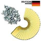 30x Rostfreie PREMIUM Titan Messer Klingen - Passend für alle Husqvarna, Automower - Gardena Mähroboter - 75mm DICK + 30 Schrauben - Ersatzmesser Passend für 105, 310, 315, 320, 420, 430x, r40i