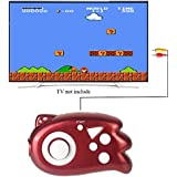 QingShe TV Game Mini Handheld Console Player Plug & Play With 89 TV Games For Kids- Red
