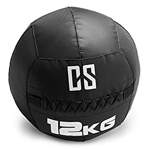Capital Sports Bravor – Medizinball, Wall Ball, Fitness Ball, Krafttraining, Ausdauertraining, Functional Training, extrem griffige Oberfläche, schwarz, verfügbare Gewichte: 3 kg – 12 kg