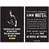 Inephos Combo Pack Of 2 Bruce Lee Quotes Motivational Posters For Room (12 X 18 Inch)