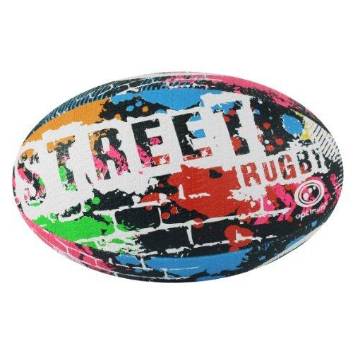 Optimum Street Rugby Ball, Schwarz, Größe 3