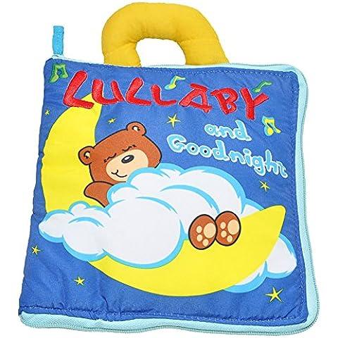 Actividad infantil suave del niño del bebé Libros de Aprendizaje Historia libro de paño de educación para la vida del sueño Libros de bebé de juguete Desarrollo-Oso por