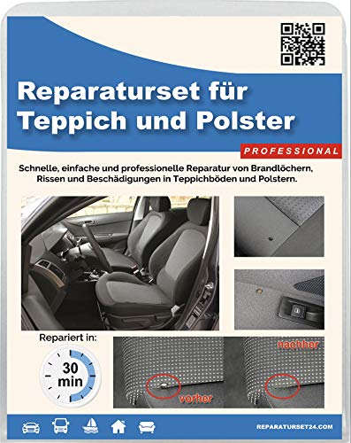 Brandloch Teppich Polster Autositz KFZ Stoff Reparatur Set Smart Repair - Professional