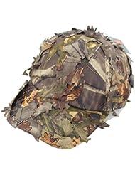 Ejército Militar camuflaje Gorra de béisbol casquette sombrero de camuflaje para caza pesca actividades al aire libre, A Brown