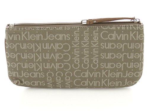 Calvin Klein Nécessaire dans jacquard beige logoed partout