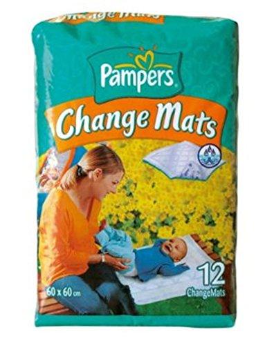 Pampers Soins Changement Tapis 60x 60cm Lot de 12