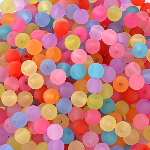 Souarts Mixte Acrylique Depoli Boules Perles Intercalaires Lot de 1000pcs