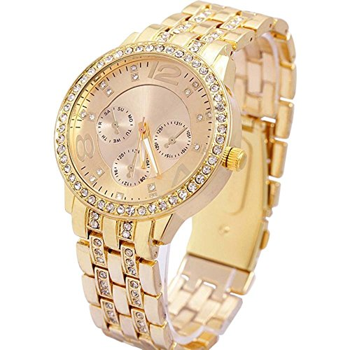 Geneva Analog Gold Dial Women\'s Watch-g7475_D