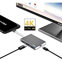 Dex Station para Samsung Galaxy S8/Note 8/Nintendo Switch, Wofalo USB tipo C a HDMI adaptador Hub Para Proyector TV Monitor, Convertidor USB C 3.1 HUB con 3 Puerto USB 3.0 Mini Dock para MacBook Pro