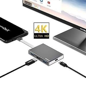 Adaptateur USB Type C vers HDMI pour Samsung Galaxy S8/S8 Plus/Note 8, Nintendo Switch, et