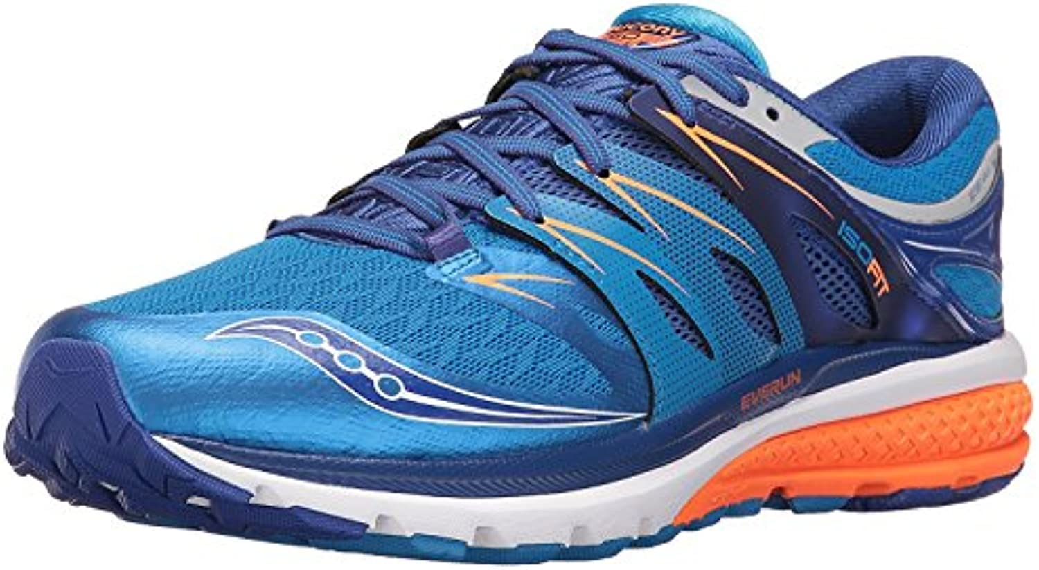 Saucony Men's Zealot ISO 2 Running Shoe  Blau Orange  43 EU/8.5 UK
