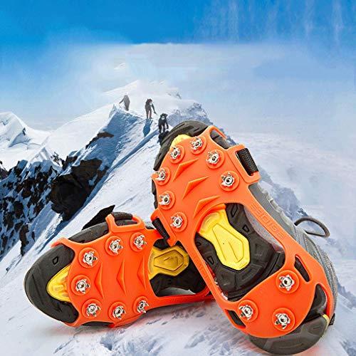 Jokeagliey, ramponi Antiscivolo da Neve, ramponi, Scarpe da Trekking, Camminate su Neve e Ghiaccio, ramponi per Scarpe, Escursioni Invernali, Taglia L