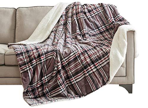 Urban habitat microlight di berbero nuova gamma di luce ma caldo morbido soffice micro velour lenzuola per divano e letto, resistente, non sbiadisce, 100%_poliestere/poliestere, plaid-grey, 150*200cm