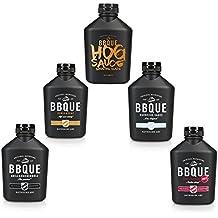 BBQUE AllStar Set 5er Vorteilspack (Original, Grill & Buchenholz, Chili & Kren, Honig & Senf, BBQUE HOG Sauce Bavarian Glaze)