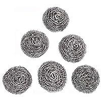 9 piezas de alambre plateado de acero inoxidable para lavar platos o cocina, no se puede limpiar el alambre de la bola de limpieza de la cocina