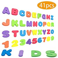 SPECOOL Magnetic Letters and Numbers for Kids Classroom Gift Set Refrigerator Magnet Educational Alphabet Toy Preschool Learning, Spelling Counting Games, Math Skills for Toddler(41pcs)