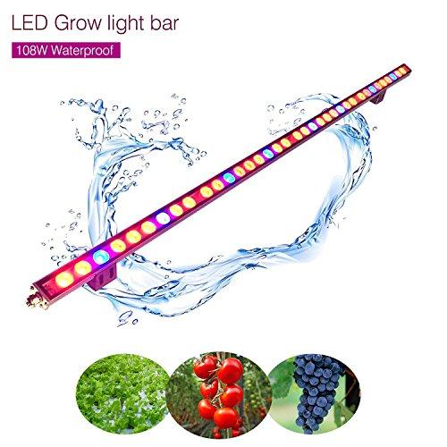 Led Pflanzenlampe Streifen Roleadro Led Grow Bar für Gewächshaus Planze Wachsen Blume Growbox IP65 Wasserdicht 115cm (108w)