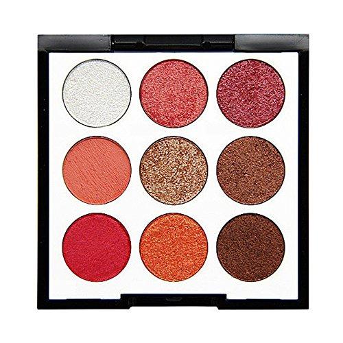 Cooljun 9 couleurs Ombre ¨¤ paupi¨¨res Palette Matte Glitter Pigment Texture Eye Shadow Beauty Maquillage (D)