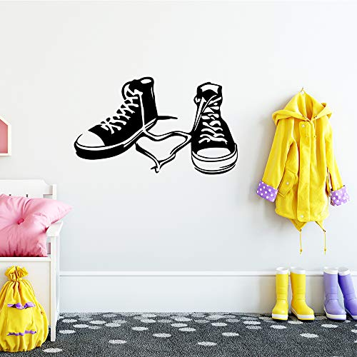 Ajcwhml Nette Schuhe Kindergarten Wandaufkleber Vinyl Kunst Aufkleber für Kinderzimmer Dekoration Armaturen Wandbilder