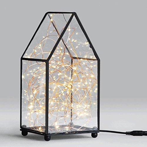 DELICATO T ferro della stella di vetro Luci di Natale a LED 13 centimetri * 12cm * 17cm Bed 4W capo Festival chiaro caldo della luce di notte Lampada da tavolo Desk Lamp